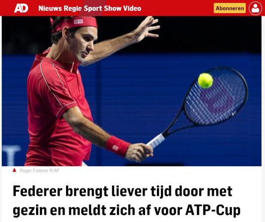 Federer kiest voor gezin